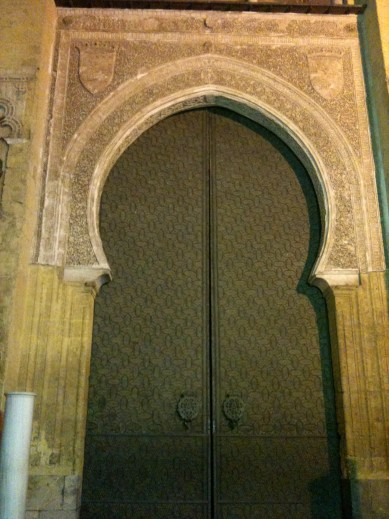 A door in Cordoba - the city was once the largest in western Europe