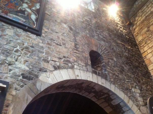 A Saxon window made from Roman bricks
