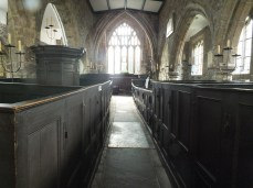 The medieval nave and box pews