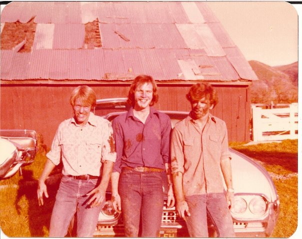 Ford Munnerlyn, Roy Goble, me - probably 1979 in Sunol CA