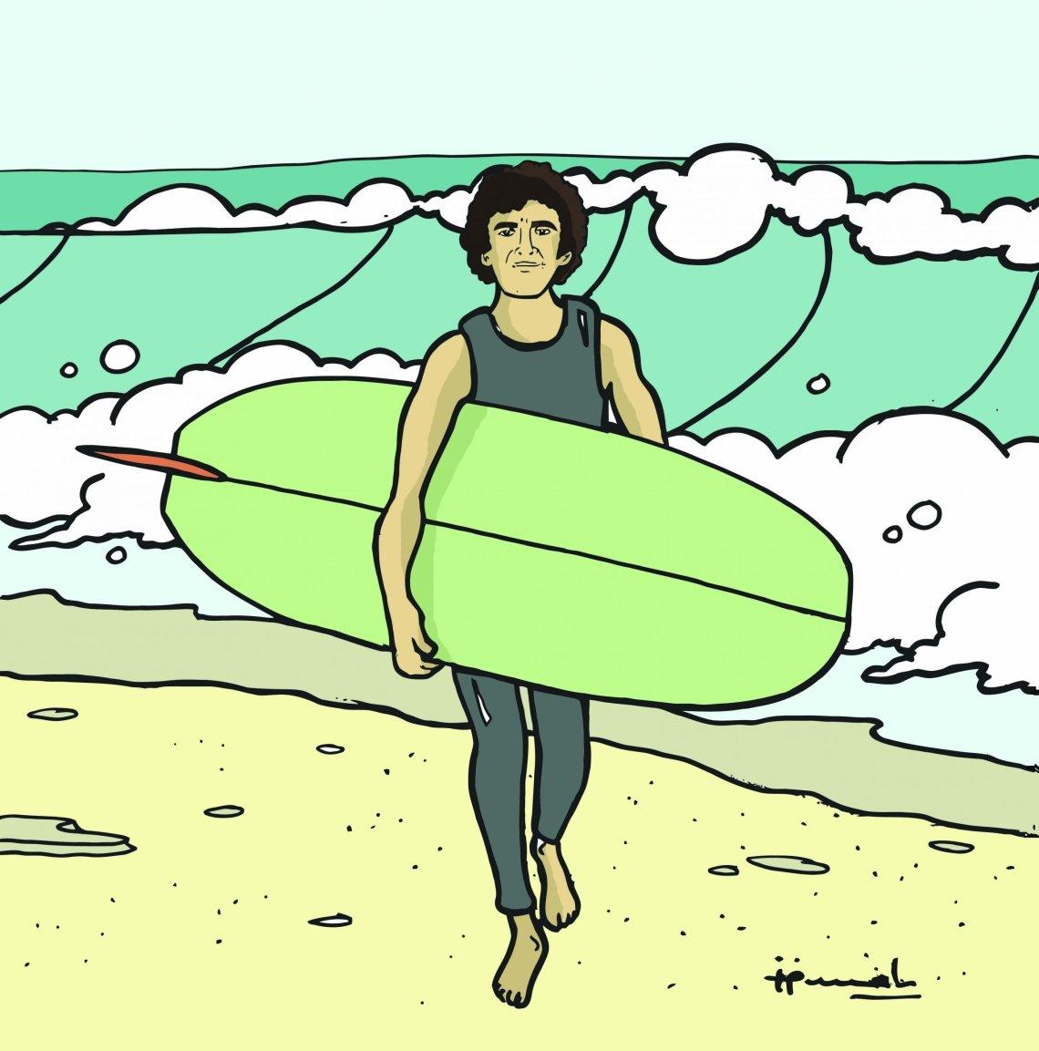 Daves Vintage Surfboard