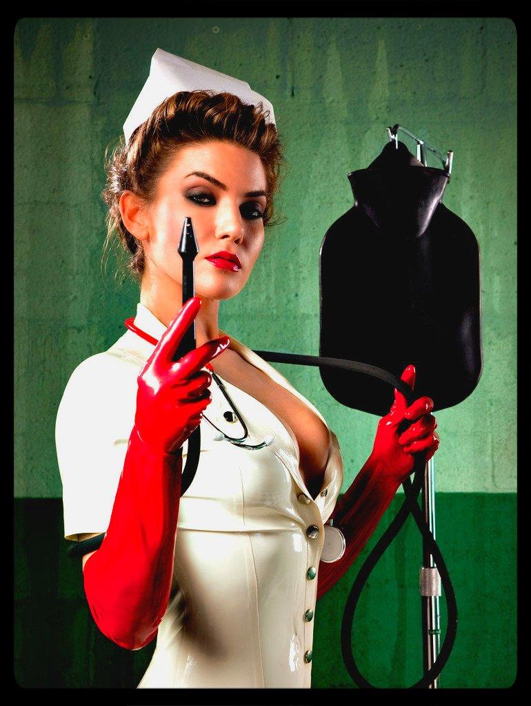 Naughty Nurse Faith gives an Enema - Part 1