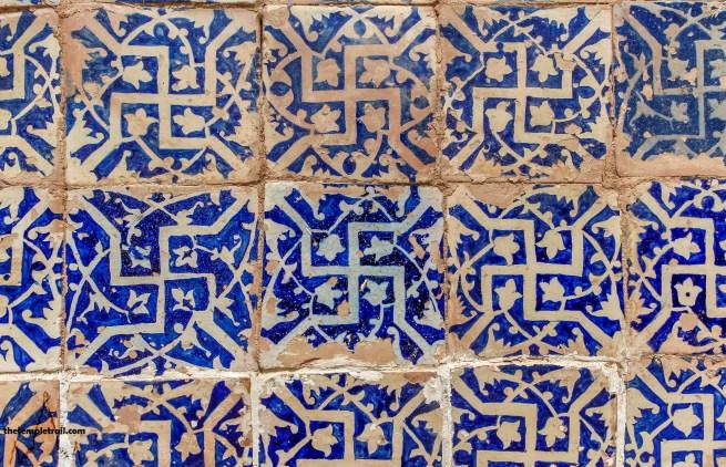 Afāq Khoja Mausoleum Tiles