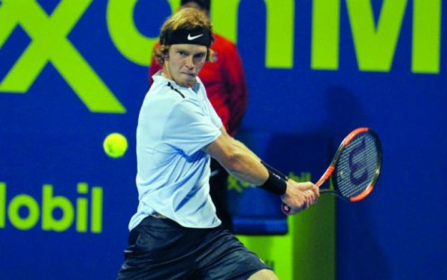 Andrei Rublev won his starting match in Doha