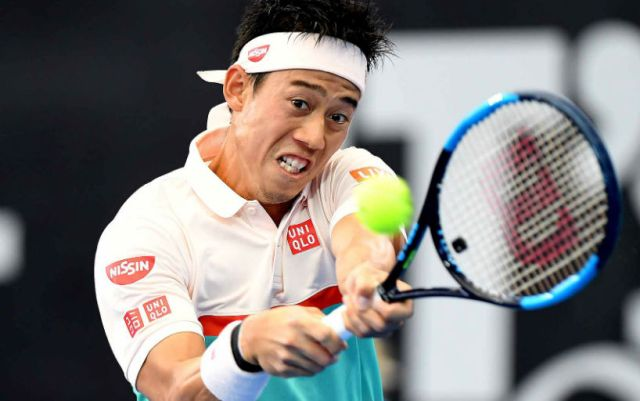 Brisbane. Kei Nishikori won the semifinals