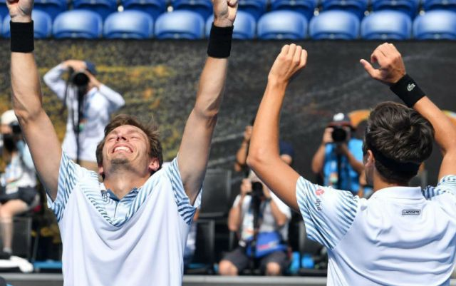 Pierre-Hugues Herbert and Nicolas Mahut won the Australian Open doubles