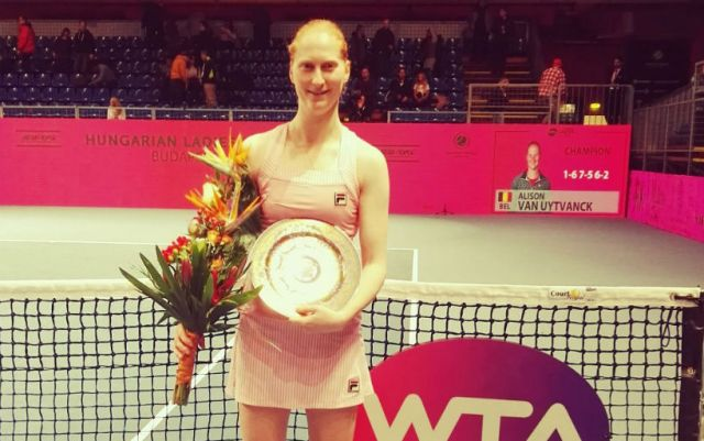 Alison van Uytvanck became champion of the tournament in Budapest