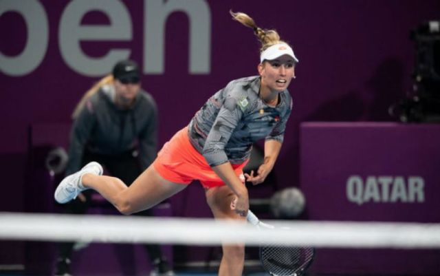 Dubai Elise Mertens suffered a defeat at the start of the competition
