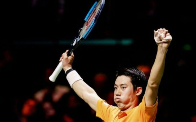 Kei Nishikori reached the semifinal of the tournament in Rotterdam
