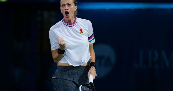 Petra Kvitova reached the final of the tournament in Dubai