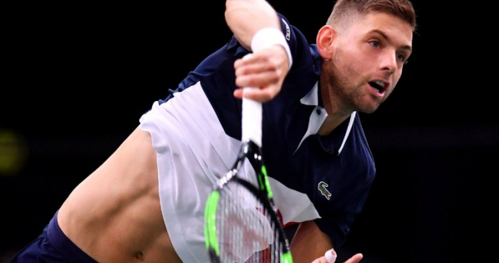 Filip Krajinovic went into the second round of the competition in Montpellier, where he will play with David Goffin