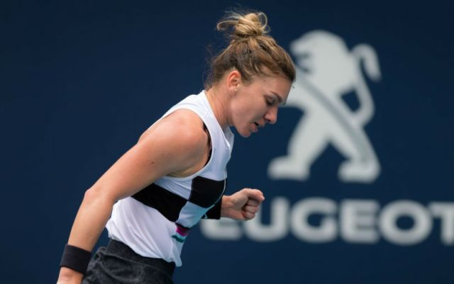 Simona Halep reached the semifinals of the tournament in Miami