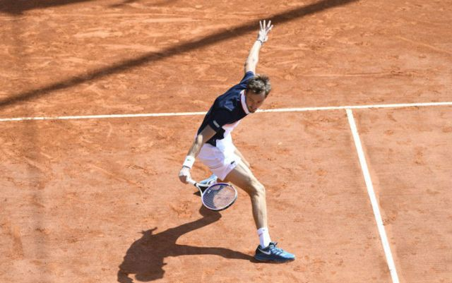 Barcelona. Daniil Medvedev reached the final by defeating Kei Nishikori