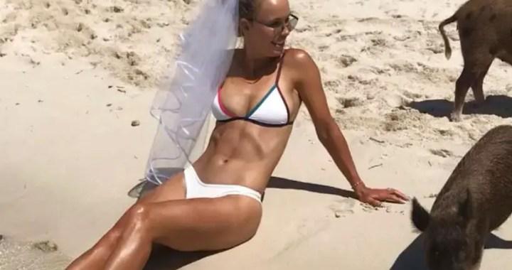 Caroline Wozniacki shared a shocking photo in a bathing suit