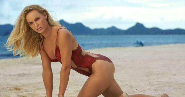 Caroline Wozniacki posted a photo in a swimsuit