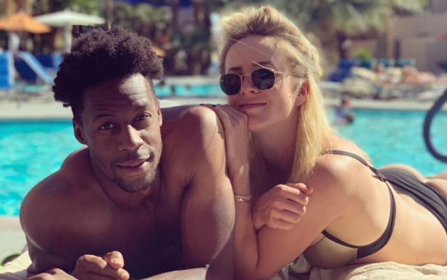 Elina Svitolina and Gael Monfils held a joint training session in Madrid