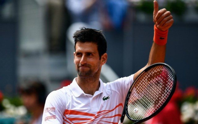 Novak Djokovic made his way to the Masters final in Madrid, defeating Dominic Thiem