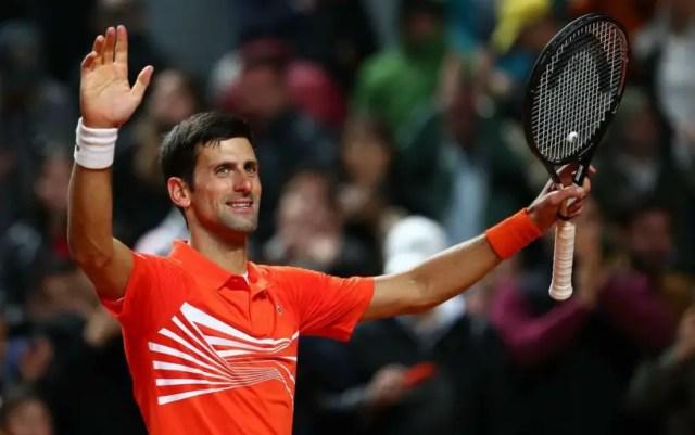 Rome. Novak Djokovic defeated Juan Martin Del Potro and advanced to the semifinals.