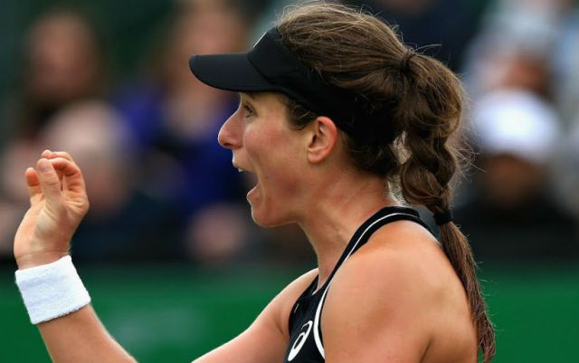 Birmingham. Johanna Konta got the better of Anett Kontaveit