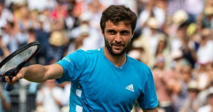 Gilles Simon completed the show in Eastbourne