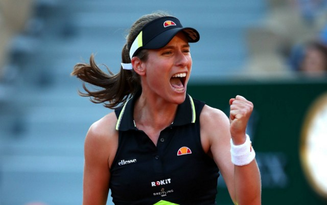 "Johanna Konta became the first semi-finalist ""Roland Garros"""