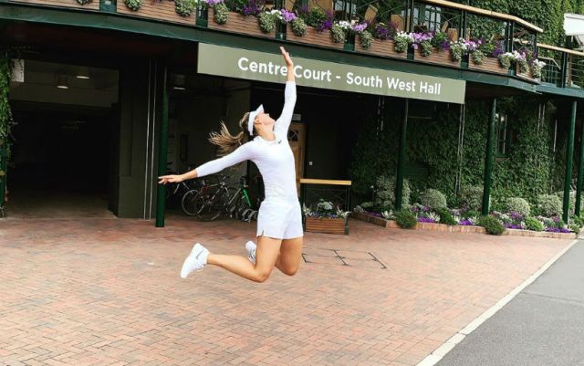 Maria Sharapova shared a photo from the Central Court of Wimbledon