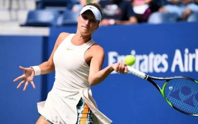Marketa Vondrousova went into the second round of the Eastbourne tournament