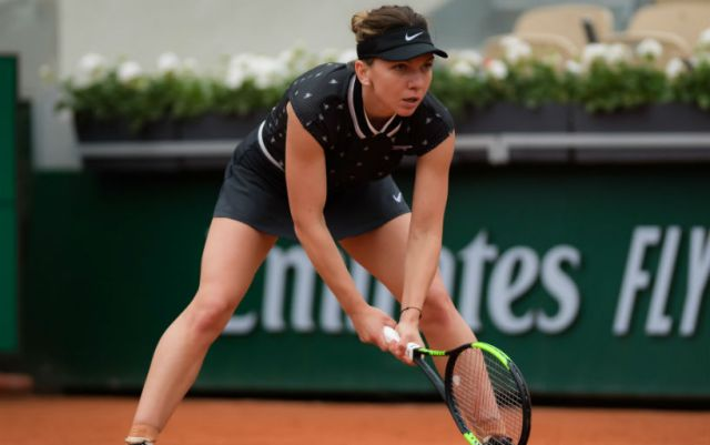 """Roland Garros"". Simona Halep defeated Lesia Tsurenko"