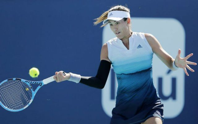 Garbine Muguruza withdrew from the tournament in San Jose