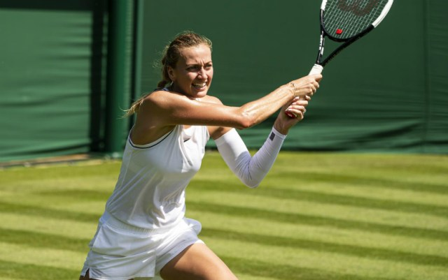 Petra Kvitova went into the second round of Wimbledon