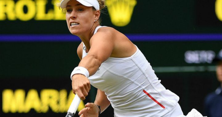 Wimbledon. Angelique Kerber successfully launched title defense