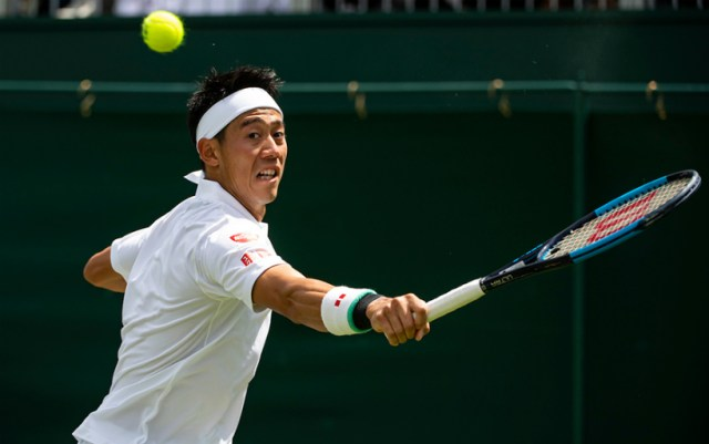 Wimbledon. Kei Nishikori broke the barrier of the third round