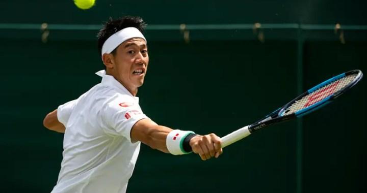 Wimbledon. Kei Nishikori broke the barrier of the third round