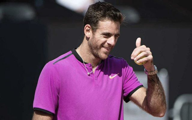 Juan Martin Del Potro returned to training on the court