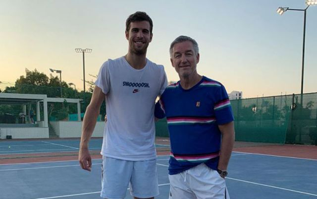 Karen Khachanov with Fredrik Rosengren
