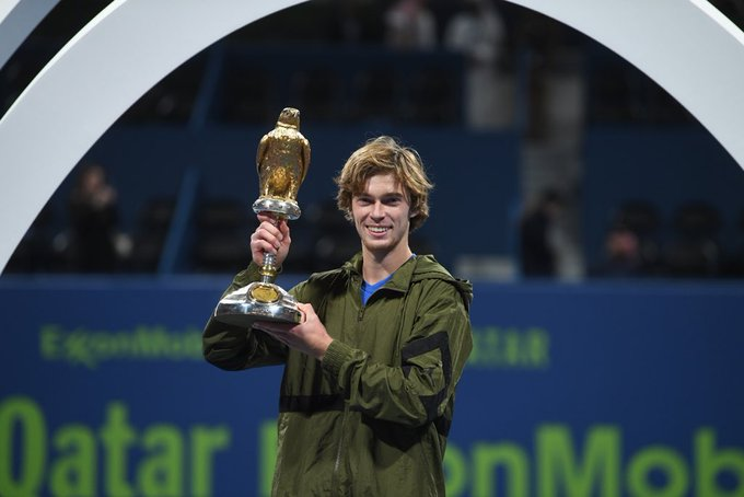 Andrey Rublev with cup