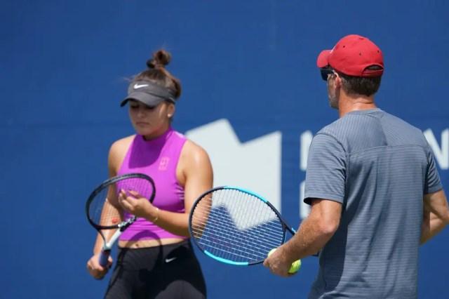 Bianca Andreescu with coach