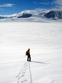 Traversing Mackay Glacier (Jan 2013)