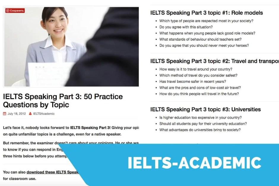 ielts-acasemic speaking sample questions
