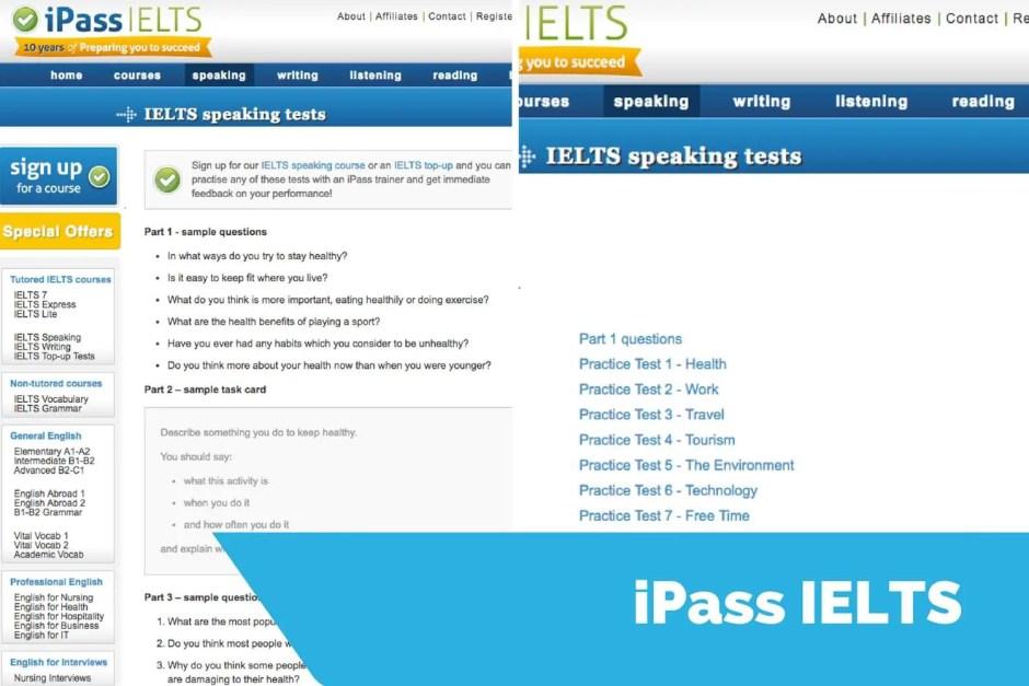 iepassielts speaking sample questions