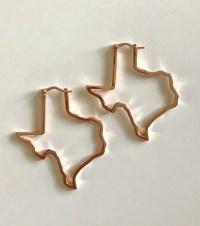 Texas Shape Hoop earrings - The Texas Edge