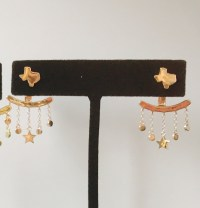 Texas Stud Earrings with Star Ear Jacket - The Texas Edge