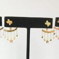 Texas Stud Earrings with Star Ear Jacket