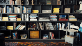 the therapist's bookshelf