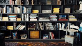the therapist's bookshelf