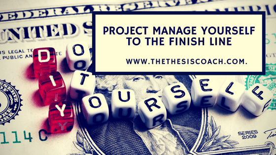 ARE YOU SCARED? WELL, DON'T BE – PROJECT MANAGE YOURSELF!