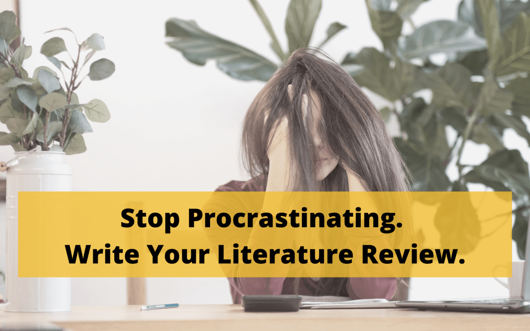 Stop Procrastinating and Write your Literature Review