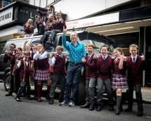 Andrew Lloyd Webber and the kids from School Of Rock / Photo by Craig Sugden