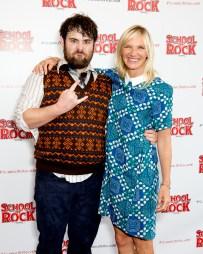 David Fynn (Dewey Finn) and Jo Whiley at School Of Rock - The Musical / Photo by Craig Sugden