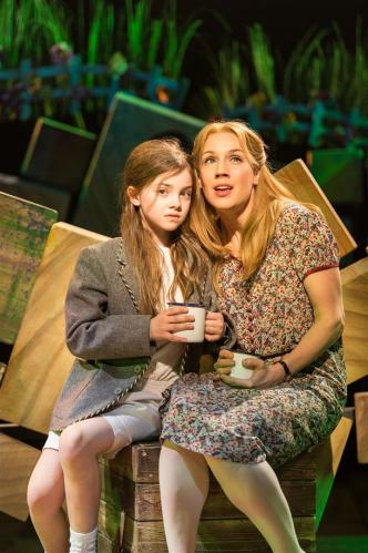 Emily-May as Matilda with Miria Parvin as Miss Honey